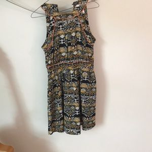 Summer dress with fun abstract patterns